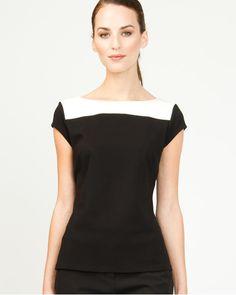 knit colour, shop top, colour block, boat neck, neck top, le chateau2, nifti knitsi, work cloth