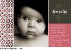 Photo Baptism/Christening Invitations :: Divine Pink Design