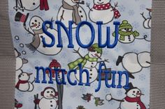 LOVING the Royal Blue Embroidery on the Snowman pattern!!!!