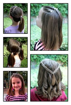 Tons of cute hair styles for little girls.  With tutorials!