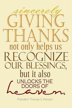 giving thanks printable