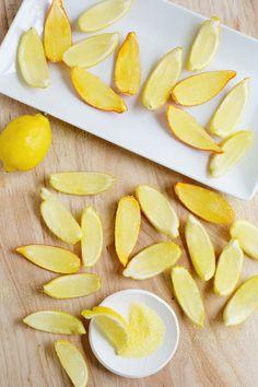 Lemon drop gelatin shots