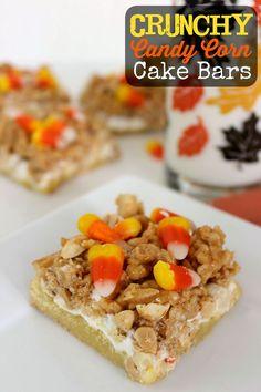 Sweet and Salty Halloween Goody Bars #halloween #cake