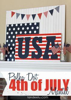 Polka Dot 4th of July Mantel