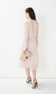 Rebecca Minkoff Hayes Dress- Subtly pleated and cinched at the waist, the Hayes Dress is the ultimate form-flattering piece.