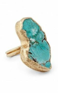 14k Gold Plated Turquoise Ring
