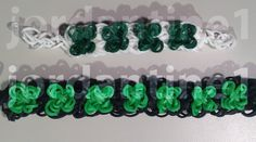 New Four Leaf Clover Bracelet - St. Patrick's Day Shamrock - Rainbow Loom