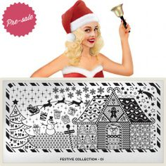 Festive Plate Collection 01 moyou.co.uk | info@moyoumarketing.com #moyoulondon #nailart #pinup #stamp #stamping #manicure #pinup #london #xmas #navidad #snowflakes