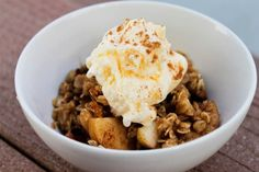 Apple Almond Granola Crisp