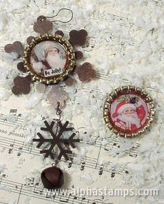 Bottlecap Christmas ornaments