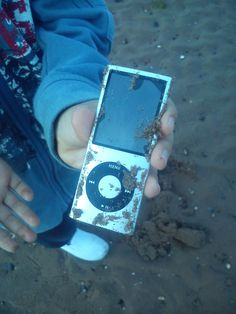 An ipod beach metal detecting find. . . love it!
