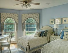 Bedroom - Blue and White