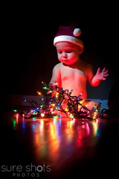 Child, christmas lights, Sure Shots Photos  My baby!