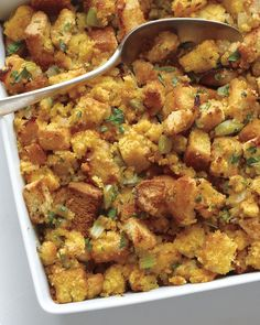 Bacon-Cornbread Stuffing -Everyday Food editor Sarah Carey shows you how to take stuffing to a whole new level.(plus video)