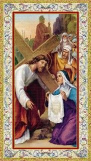 St. Veronica Holy Card (734-558) - Pack of 25