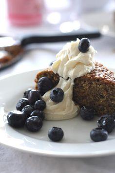 Olive Oil Orange Cake with Vanilla Mascarpone. That looks divine.