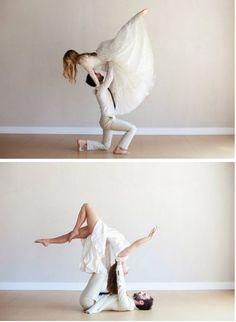Yoga engagement photos