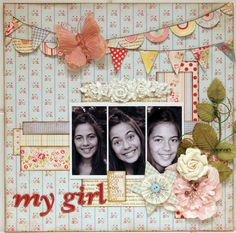 Love the Crisscrossing Banners #scrapbook page