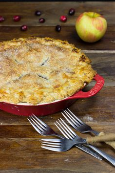 Apple Cranberry Pie from Spiced