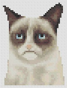 Hey, I found this really awesome Etsy listing at http://www.etsy.com/listing/129326496/grumpy-cat-cross-stitch-pattern