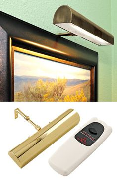 LED Cordless Remote-Control Picture Light, Battery-Operated Picture Light | Solutions