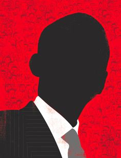 Illustration of Barack Obama, by Edel Rodriguez, for Essence
