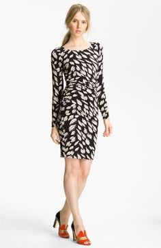 Tracy Reese Leaf Print Ruched Dress (Nordstrom Exclusive) | Nordstrom