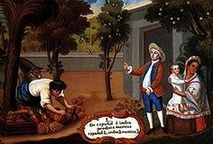 "A representation of a Mestizo, in a Pintura de Castas from Mexico during the Spanish colonial period. The painting's caption states ""Spanish and Indian produce Mestizo"". children, paintings, lindo mexico, mestizo"