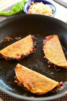 #Recipe: Crunchy Black Bean Tacos