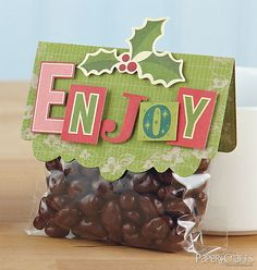 Enjoy Bag Topper by Chan Vuong gift bags, treat bags, bag toppers, diy bags, goody bags, christma project, paper crafts, craft connect, goodi bag