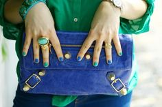 I am into clutches these days...Love the color.