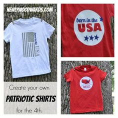 A variety of patriotic shirts you can make yourself - perfect for July 4 and the entire summer!
