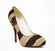 Christian Louboutin Camel And Brown Pump - these are fun : )