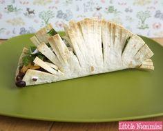 fun kid dinner: porcupine taco