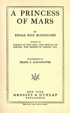 The Princess of Mars | Read.gov | Library of Congress