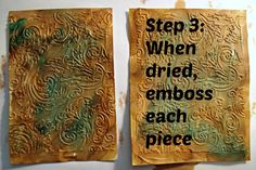 Textured Embossing with Gesso Tutorial