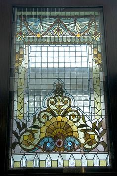 Leaded and Stained Glass window...
