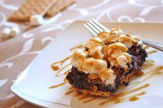 Caramel S'more Brownies from Tastefully Simple's blog http://tsrecipes.com Visit www.TSbyJacki.com for everything Tastefully Simple