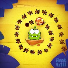Cut the Rope: Experiments - Ant Hill level pack #cuttherope #omnom #cute #green #little #monster #love #yummy #candy #sweets #playing #play #mobile #game #games #phone #fun #game #happy #funny #face #eyes #smile #nice http://cuttherope.net