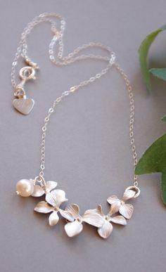 Orchid Jewelry Elegant Matte Silver