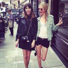 Alexa Chung and Poppy Delvigne - girl adventures in Europe.