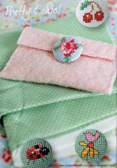 绣花钮扣 - maomao - 我随心动 ...... Cute as Buttons
