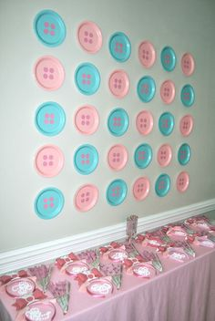 Buttons out of paper plates