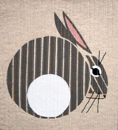Bunny, inspired by Charley Harper, by Play-Crafts.  2014 Bloggers Quilt Festival. applique quilts, quilt festiv, art quilt, appliqu quilt, blogger quilt
