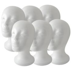 (6 Pack) Styrofoam Model Heads... great idea for a haunted house!