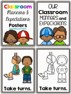 Classroom Manners and Expectations Posters PLUS a FREEBIE from Clever Classroom