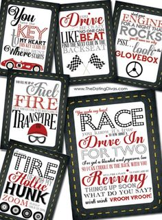 Car Treasure Hunt for hubby or boyfriend with FREE printables
