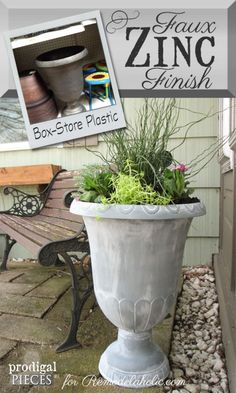 Easy DIY faux zinc f