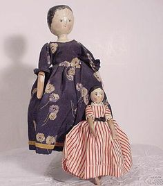 Pair of Peg Wooden Dolls