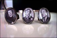 Author Rings: Poe, Wilde, Lovecraft